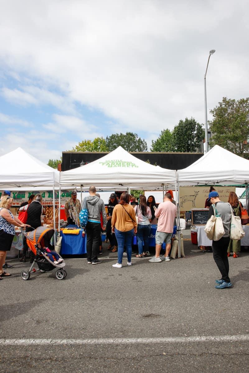 West Seattle Farmers Market tents
